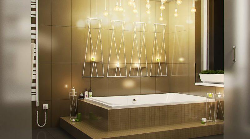 Выбор люстры в ванную комнату